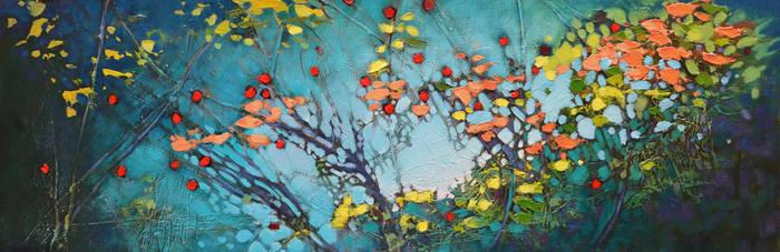 Creek Full of Berries by artistwilder