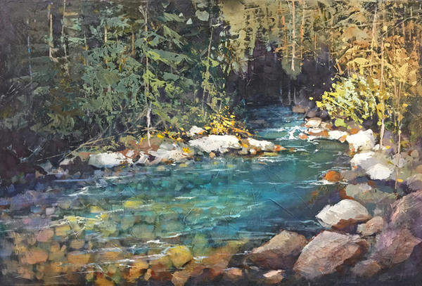 Creekside Reflections by artistwilder