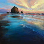 Cannon Beach reflects
