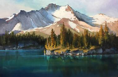 Mt Jefferson, Oregon by artistwilder