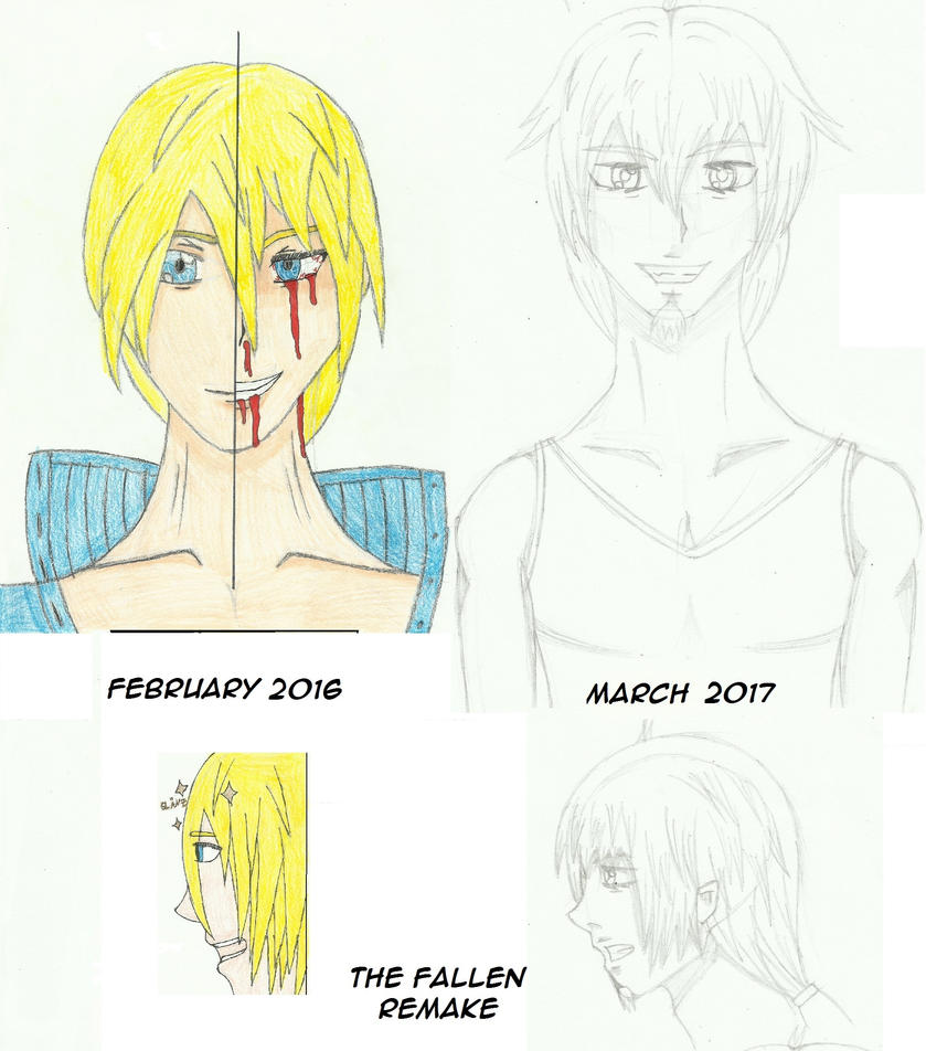 My drawing skills comparison... by Alicia-Amber