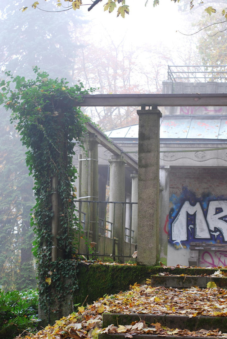 Abandoned Foggy Place by Noree-stock