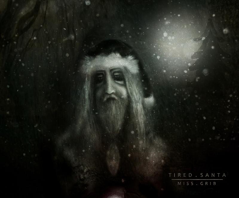 Tired Santa by MissGrib