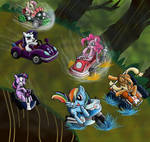 Crossover Mario Kart x MLP