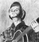 Woody Guthrie,  charcoal penci