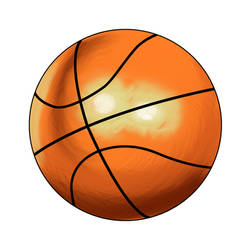 Basketball Painted