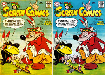 Fox Crow Comic Book Color Corrected by hairypolack