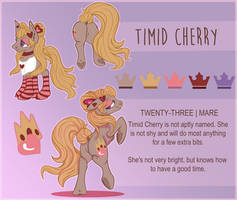 Timid Cherry Reference by OverlordPony
