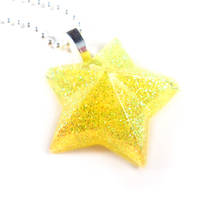Neon Yellow Star Necklace by WildeGeeks