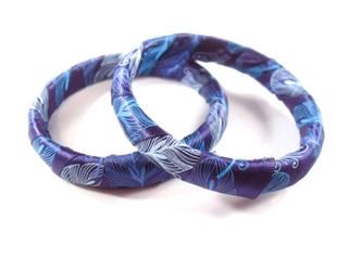 Peacock Bangle Bracelets by WildeGeeks