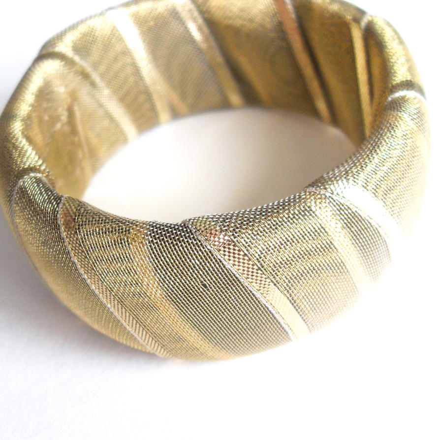 Go for the Gold Bangle Bracelet by WildeMoon