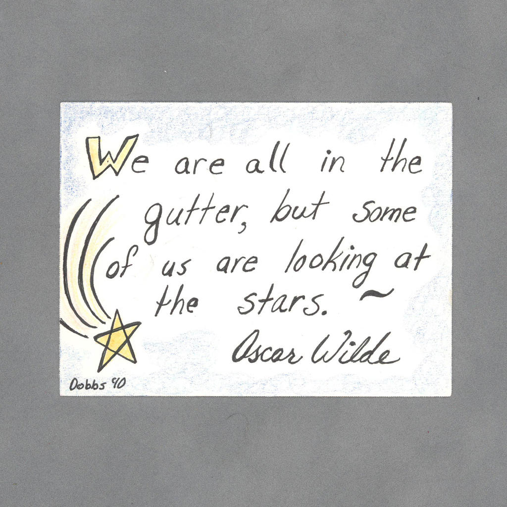 Looking at the Stars Art Card by WildeMoon