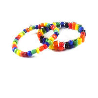 Rainbow Bead Ring Set by WildeGeeks