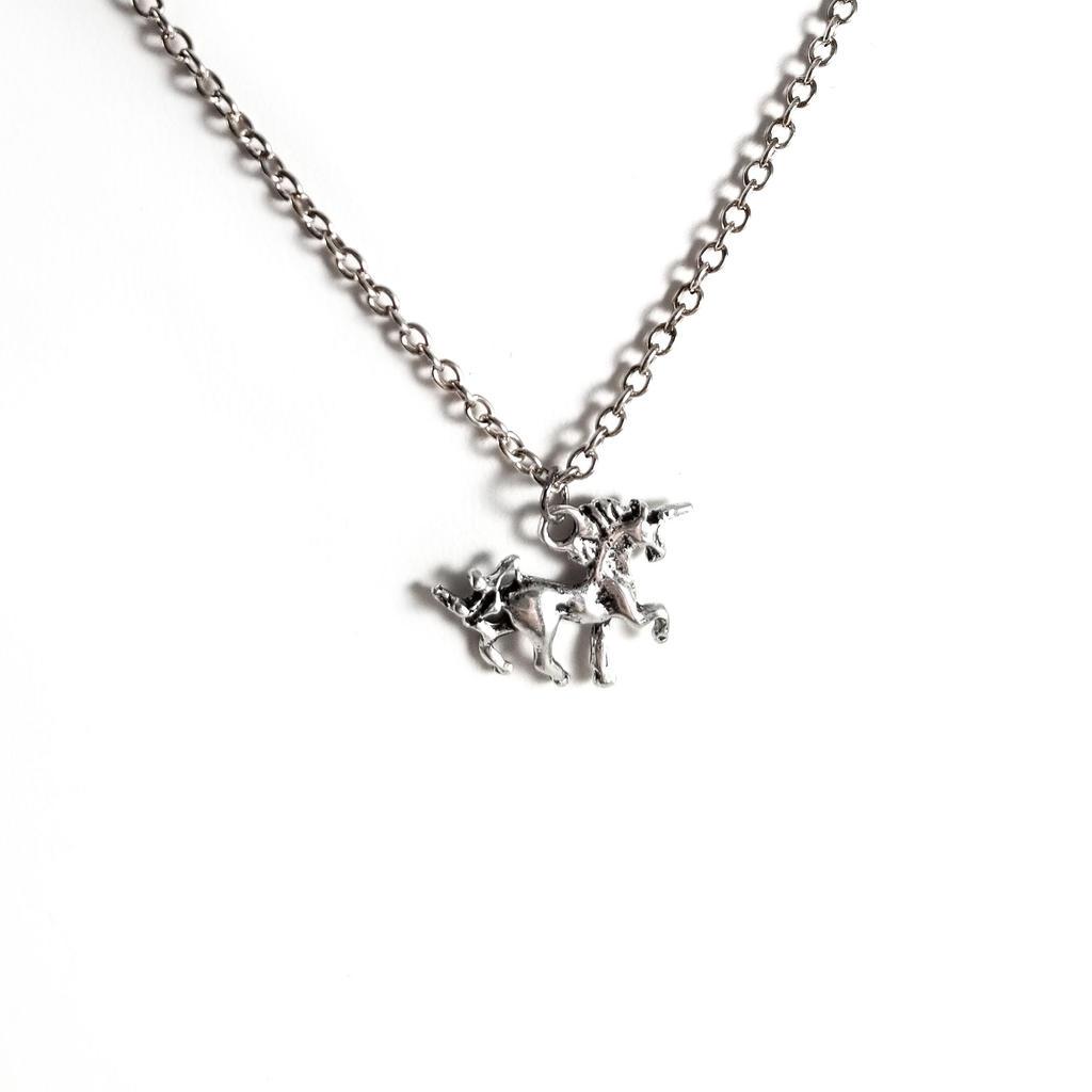 Dainty Silver Unicorn Necklace by WildeGeeks