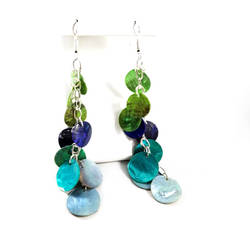 Ocean Hues Mermaid Scale Earrings