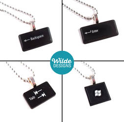 Upcycled Keyboard Necklaces