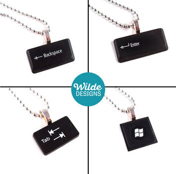 Upcycled Keyboard Necklaces by WildeGeeks