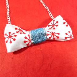 Firework Glittering Bow Tie Necklace