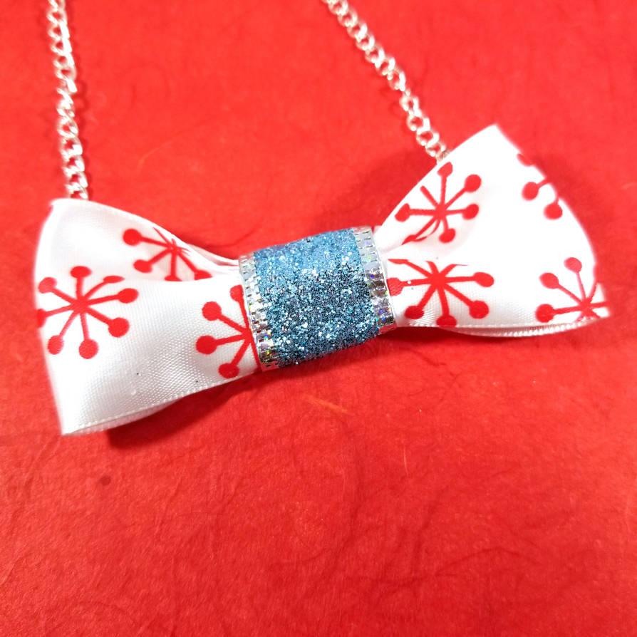 Firework Glittering Bow Tie Necklace by WildeGeeks