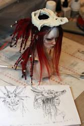 WIP - Dragon' skull hekmet