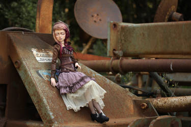 Steampunk blind girl by Follow-the-Wind