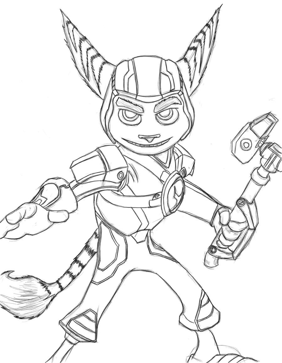 ratchet coloring pages - ratchet drawing by noobpassione on deviantart