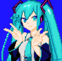 Hatsune Miku | Geometry Dash Pixel Art