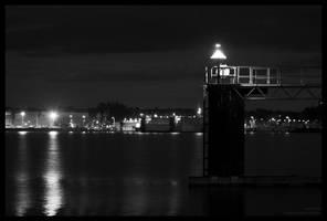 Kiel Fjord At Night by CaptainNuss