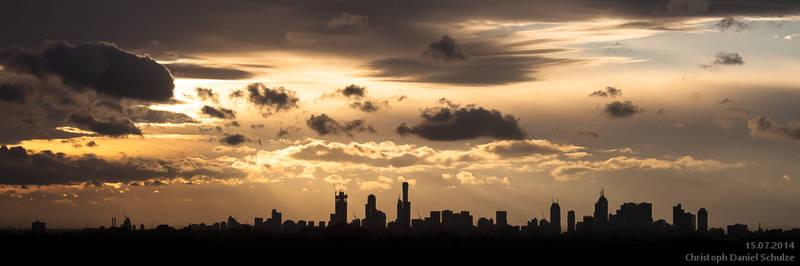 Sunset Over Melbourne