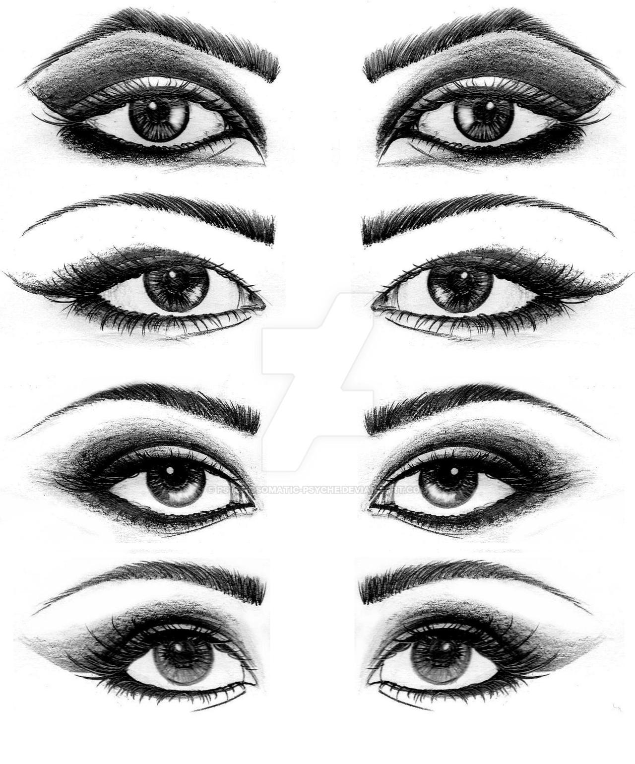 Eye Drawing: Eyes Drawings. By Psychosomatic-Psyche On DeviantArt
