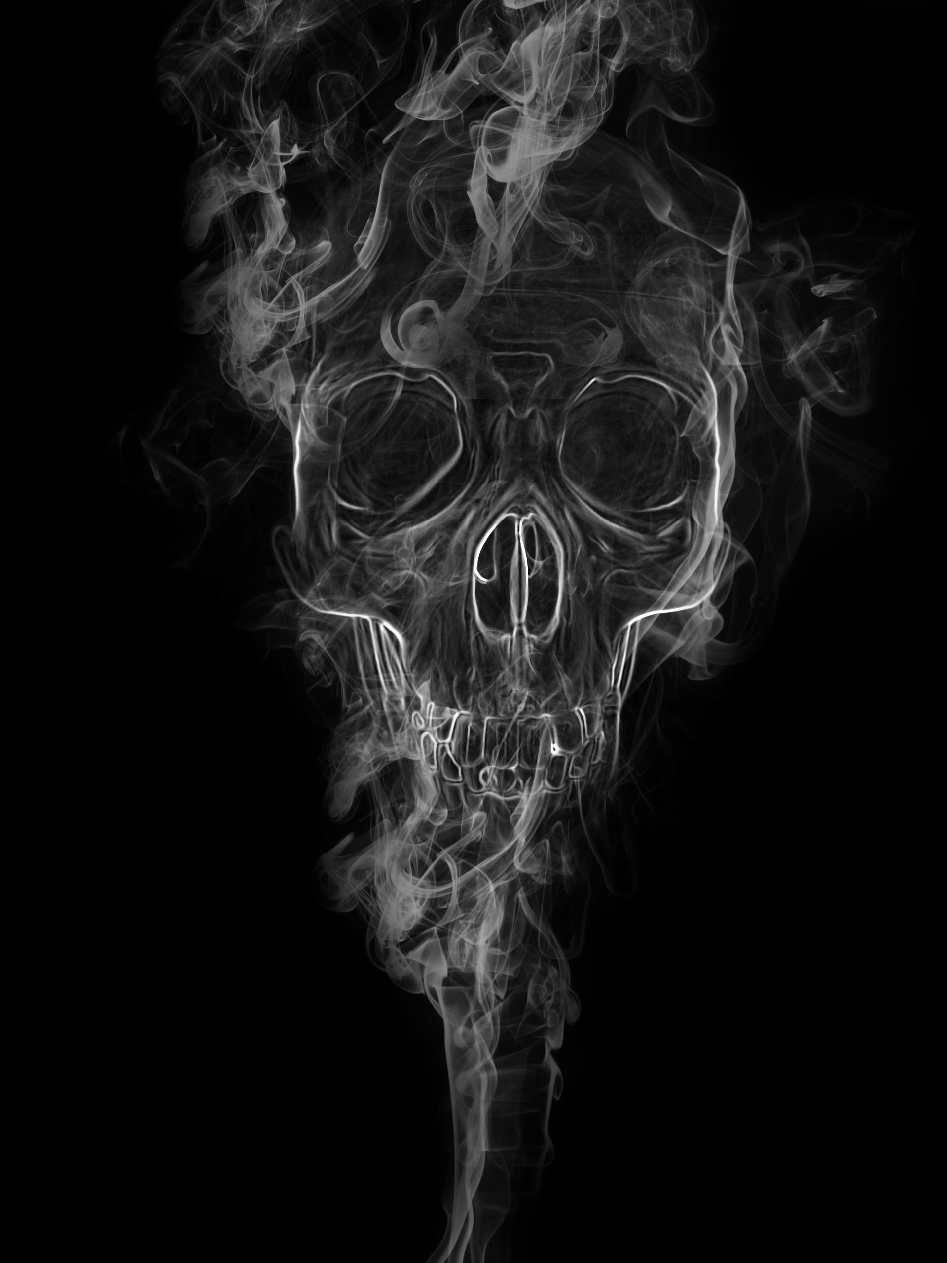 skull in smoke by toinouANDRE on DeviantArt