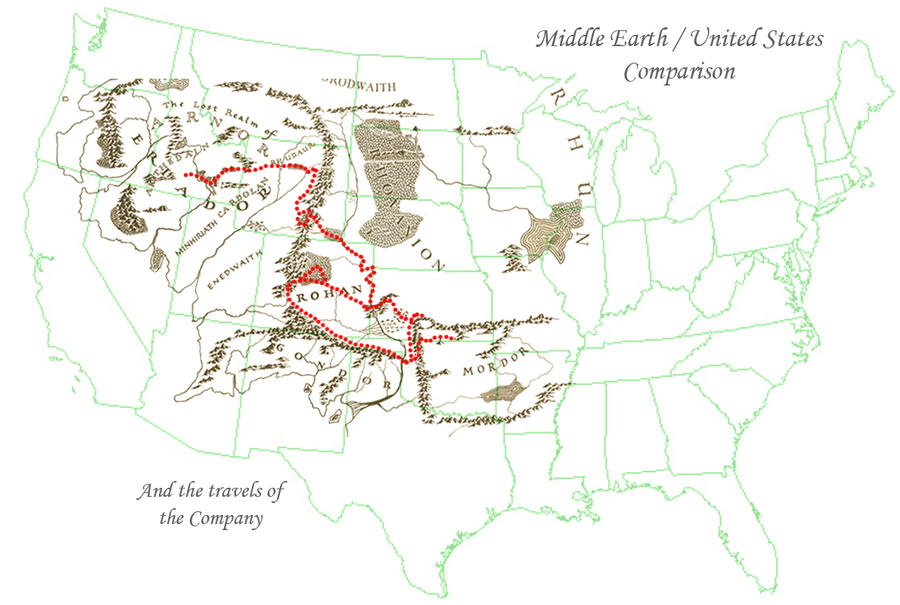middle earth usa compared by ghostcharmer