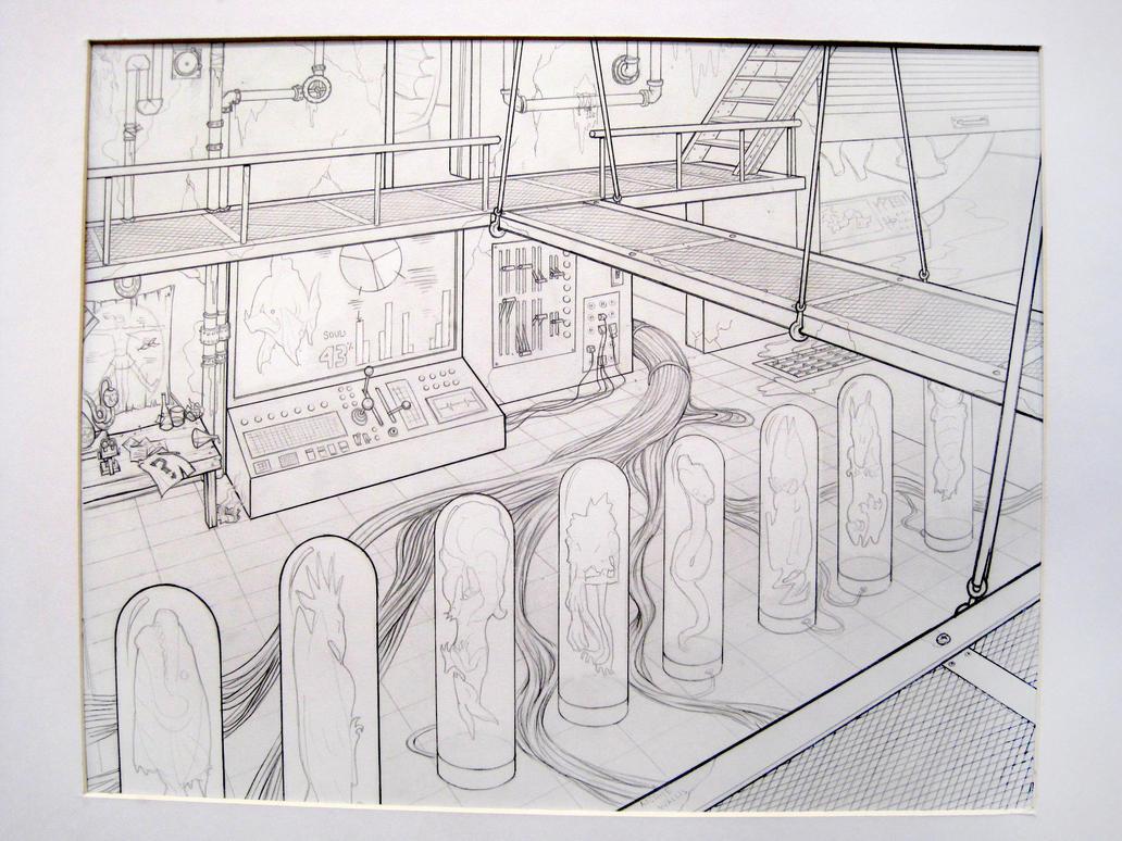 2pt Interior - Evil Lab by ghostcharmer