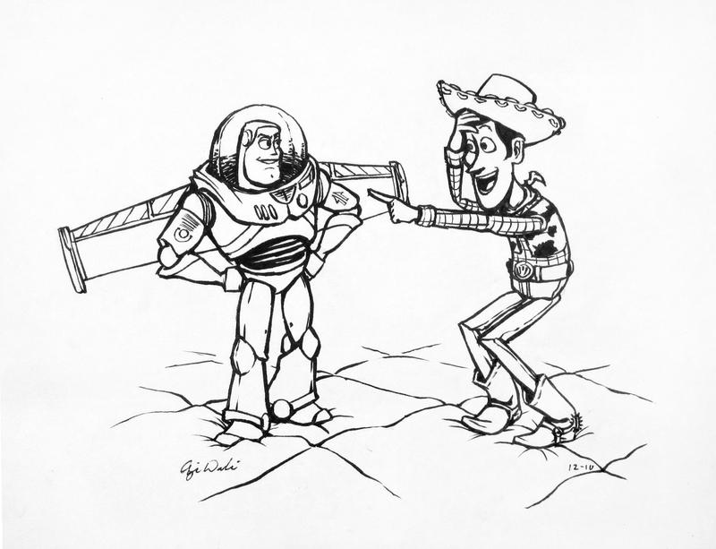 woody and buzz for dan by ghostcharmer-d34ywsc jpgWoody And Buzz Drawing