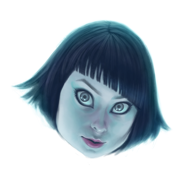 Tron Floating Head by ghostcharmer