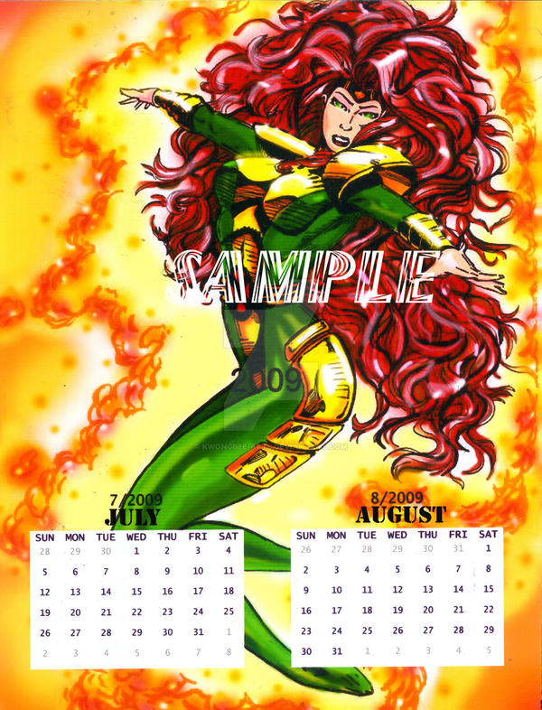 Wallpaper Calendar Superhero : Super hero calendar page by kwongbee arts on deviantart