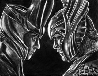 Loki - Thor Sibling Rivalry by KwongBee-Arts