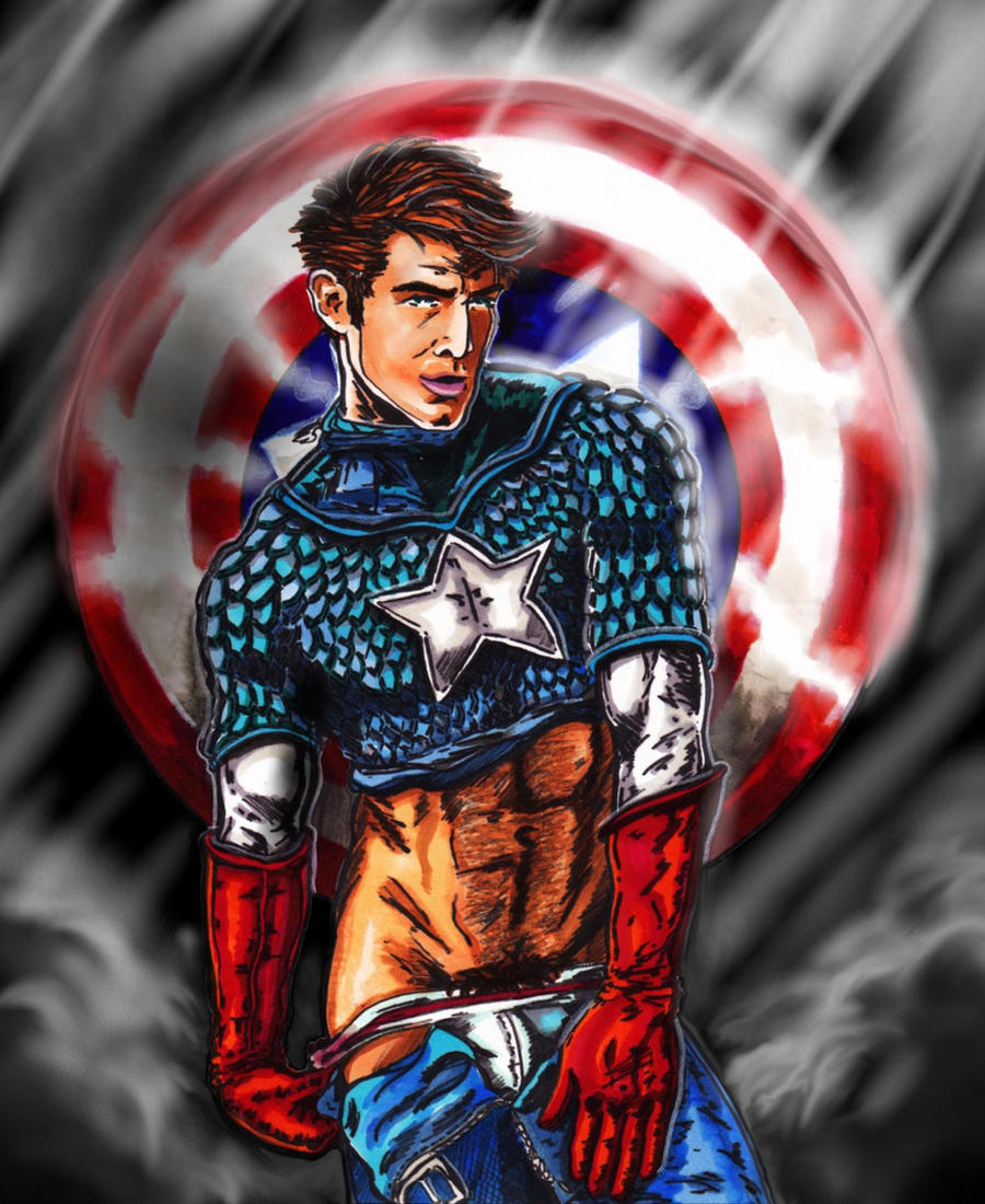 Captain American Sexiness by KwongBee-Arts