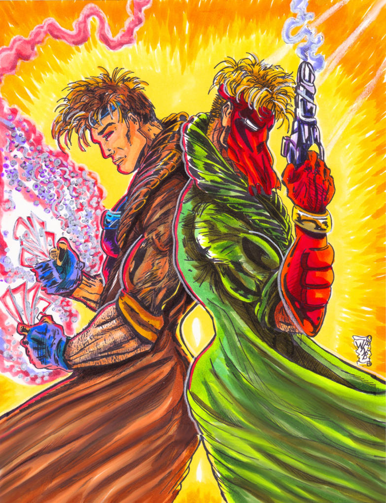 Gambit Grifter-Back to Back by KwongBee-Arts
