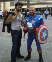 Captain America and Wolverine Dragoncon Cosplay by KwongBee-Arts