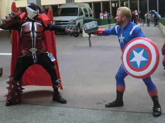 Spawn Vs Captain America Cosplay Dragon-con by KwongBee-Arts