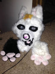 Skull wolf partial for sale