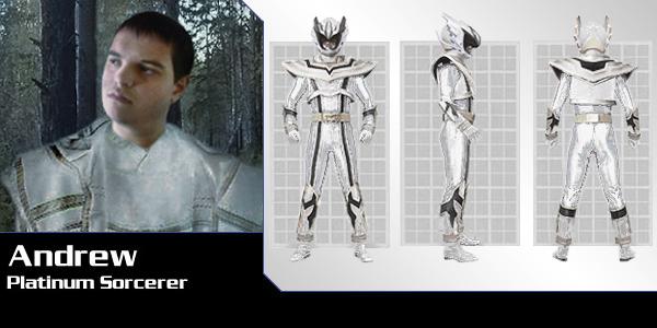 Platinum Sorcerer  PR Mystic Force  by Andruril93White Mystic Ranger