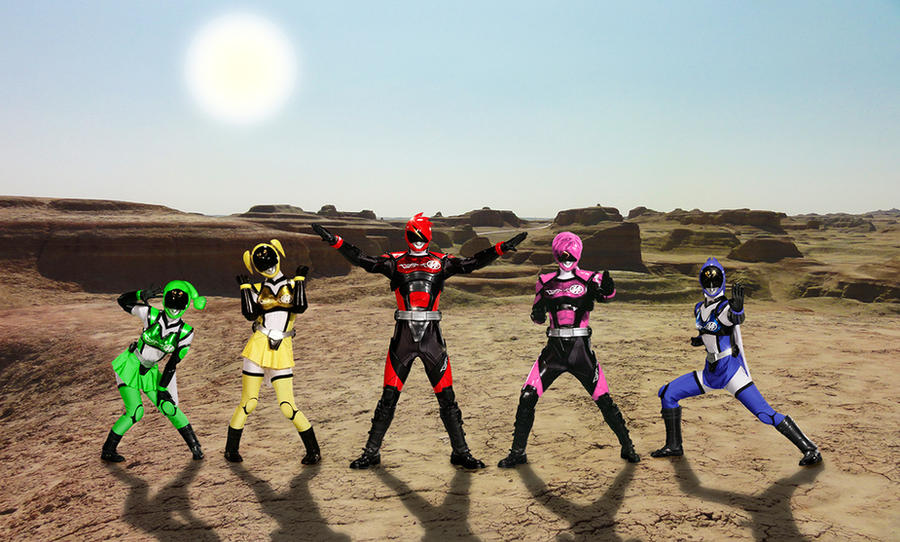 Akibaranger team of 5 by Andr-uril