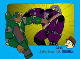 Robo-bear  VS. Cyber-gorilla by told123