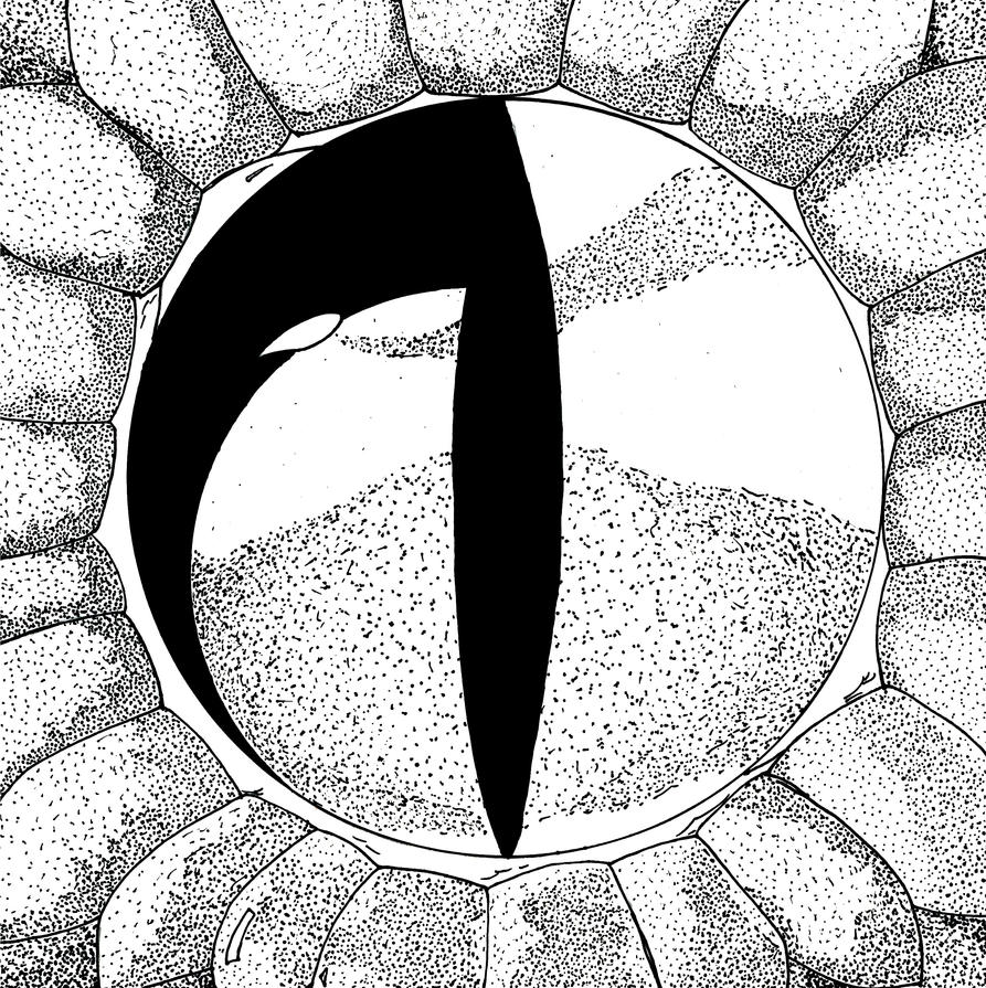how to draw a realistic snake eye