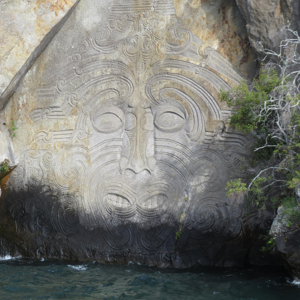 A maori rock carving by tarturus on deviantart