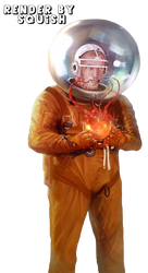 Infected Astronaut Render by SquishFX