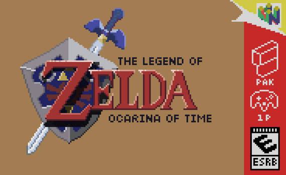 Ocarina of Time - Box Art Pixelart