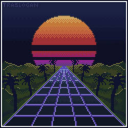 Synthwave Pixel-Poster